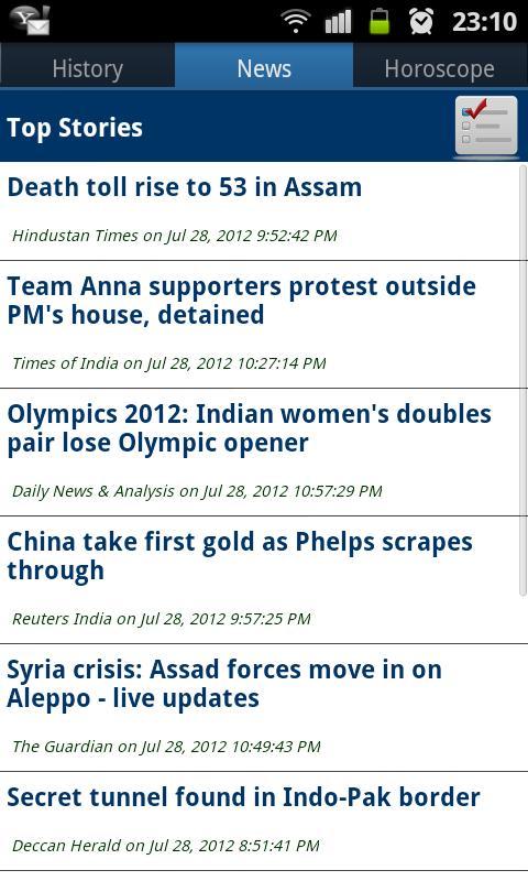 Today In World- screenshot