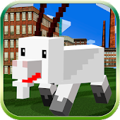 Cube City: Blockhead Goat 3D