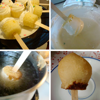 Deep-Fried Cupcakes on a Stick