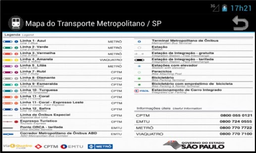 Metro Map - Sao Paulo - Brazil- screenshot thumbnail