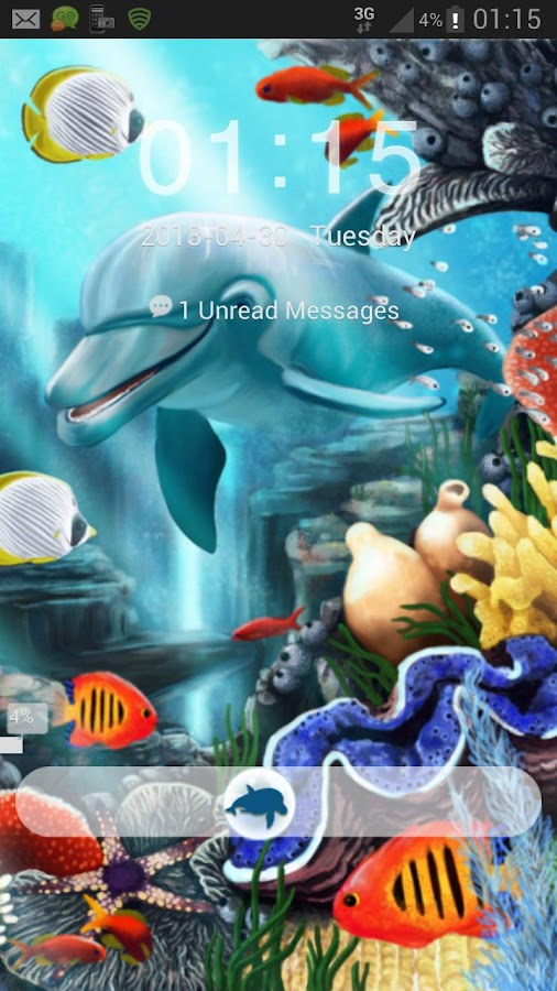 GO Locker Theme water fish- screenshot