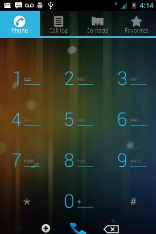 ICS Blue CM7 Theme- screenshot