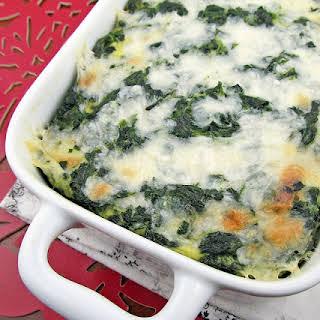 Cheesy Spinach Casserole.