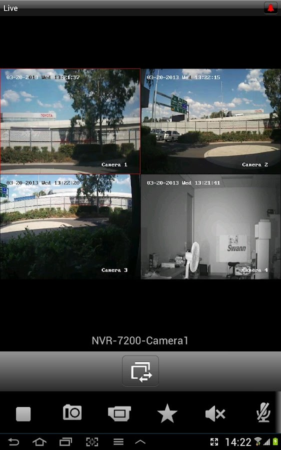 SwannView NVR - screenshot