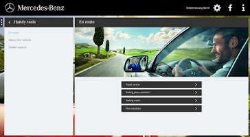 Screenshot of Mercedes-Benz Service