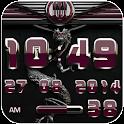 dragon digital clock bordeaux icon