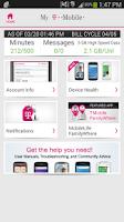 Screenshot of T-Mobile MyAccount [Legacy]