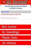 Screenshot of StL Baseball