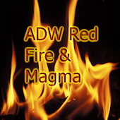 ADW Red Fire & Magma Theme Pro