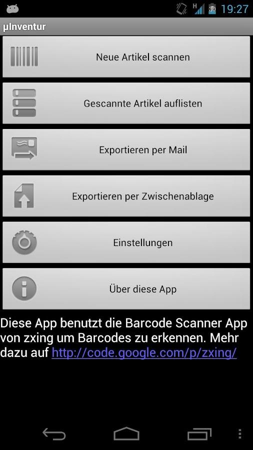 µInventory BETA- screenshot