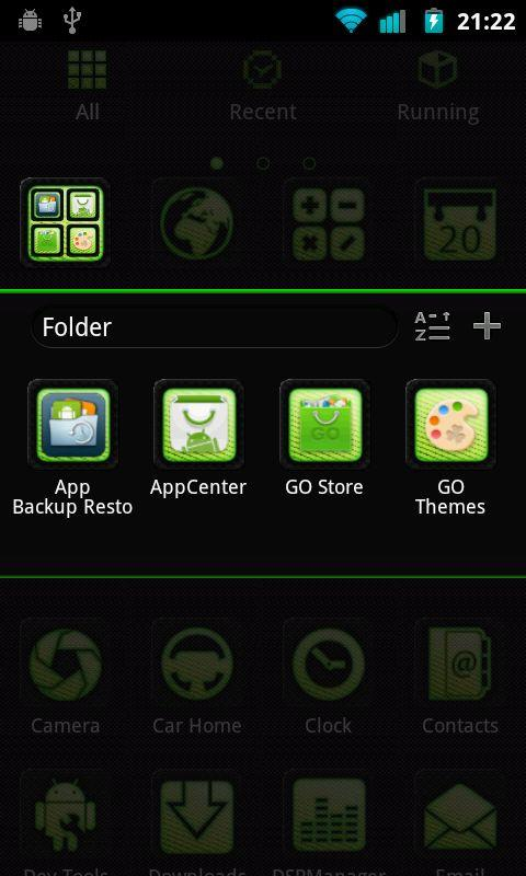 Carbon Fiber Green Go Theme - screenshot