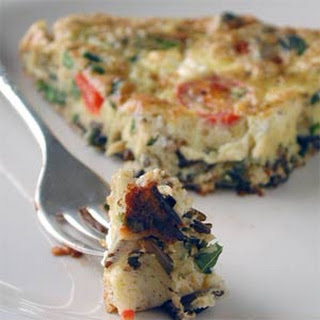 Wild Rice, Asparagus, and Goat Cheese Frittata.