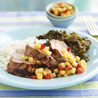 Jerk Pork Tenderloin with Pineapple-Plum Relish