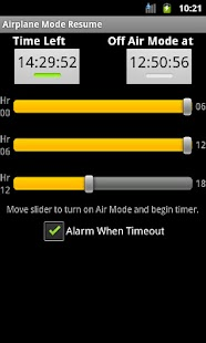 Airplane Mode Resume Timeout