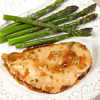 Apricot-Balsamic Glazed Chicken Breasts.