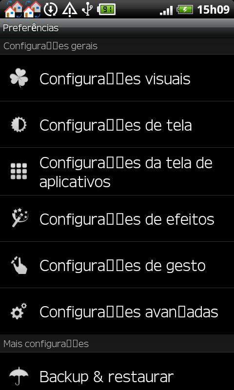 GO LauncherEX Portuguese langu- screenshot