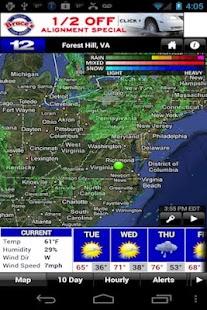 NBC 12 First Warning Weather - screenshot thumbnail