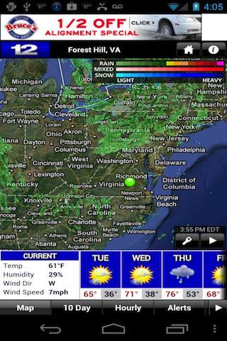 NBC 12 First Warning Weather - screenshot