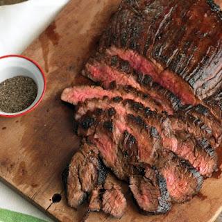 Soy-Marinated Flank Steak.