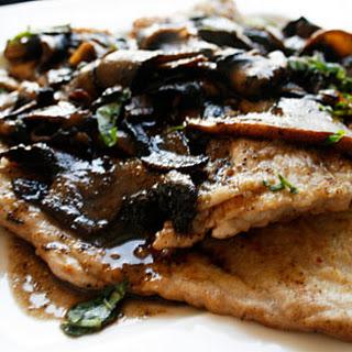 Mushroom Veal Marsala.