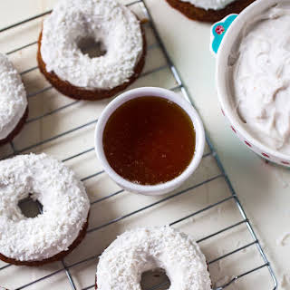 Gluten Free Carrot Cake Baked Donuts with Coconut Cream Frosting {Paleo}.