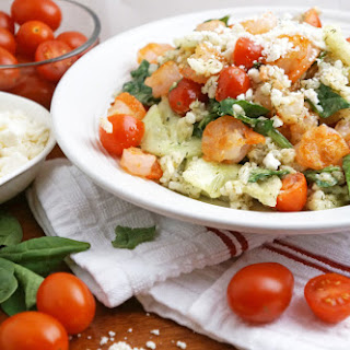Risotto and Grilled Shrimp Salad with Mustard-Dill Vinaigrette