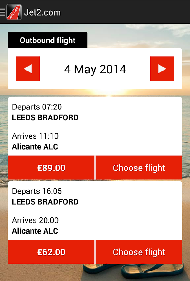 Jet2.com - screenshot