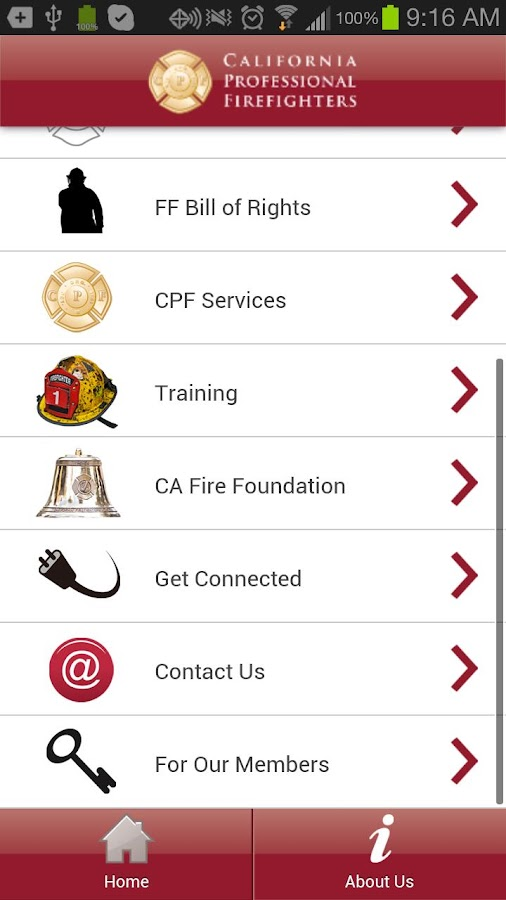 CA Professional Firefighters - screenshot