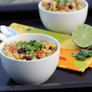 Spicy Quinoa with Kidney Beans, Corn and Lime.