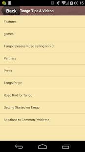 Tango Free Tips Videos