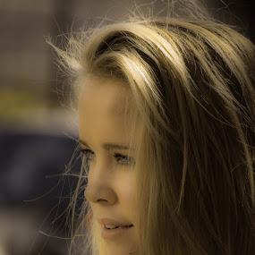 sunlit model by Graeme Wilson - People Portraits of Women ( blonde, model, girl, beauty, stunning )
