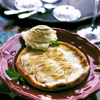 Puff Pastry Apple Tarts Glazed with Honey.