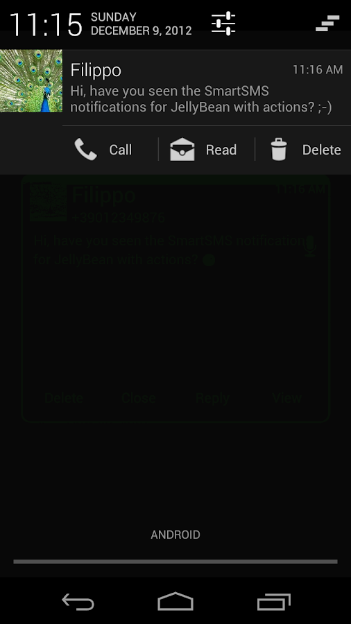 SmartSMS - screenshot