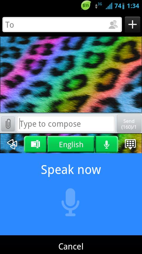 GO Keyboard Rainbow Cheetah - screenshot