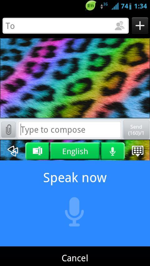 GO Keyboard Rainbow Cheetah - screenshot