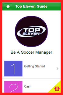 Guide for Top Eleven Football