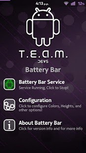 T.E.A.M. Battery Bar Screenshot 3