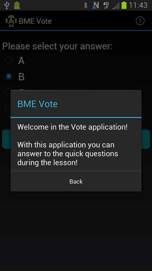 BME Vote- screenshot