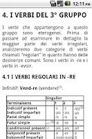 Screenshot of Grammatica Francese - I Verbi