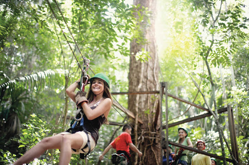 Norwegian-Pearl-Belize-zipline - Ziplines in Belize and other adventures await when you cruise the Caribbean on a Norwegian Cruise Line ship.