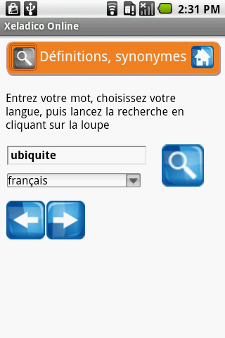 Mes dictionnaires free - screenshot