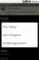 Screenshot of Cow Ringtones