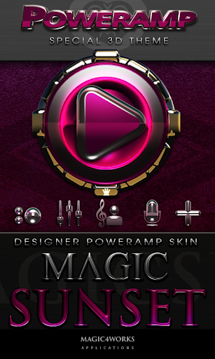 Poweramp skin Magic Sunset