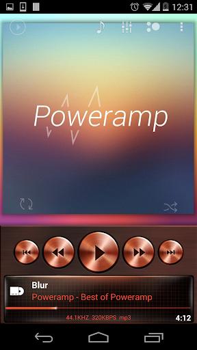 Poweramp skin Copper