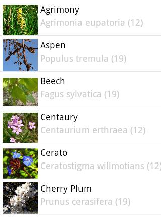 Bach Flower Remedy Browser