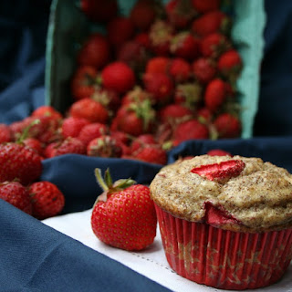 Strawberry Flax Yogurt Muffins (Gluten-Free)