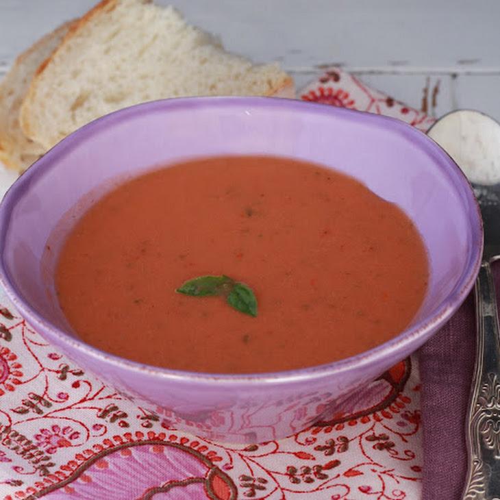 Tomato, Bell Pepper and Strawberry Gazpacho Recipe