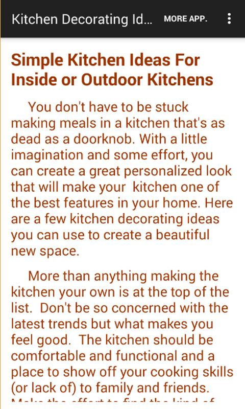 Kitchen Ideas You Can Use kitchen decorating ideas - android apps on google play