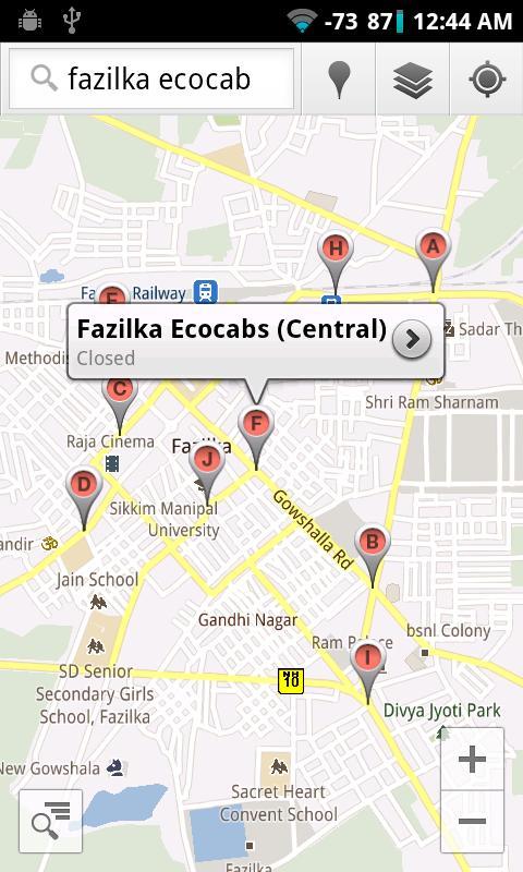 Fazilka Ecocabs- screenshot