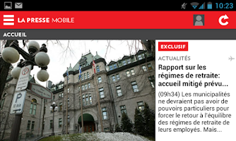 Screenshot of La Presse Mobile